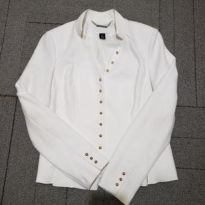 WHBM White Military Style Jack Size 10